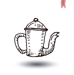 Coffee pot, Vector isolated