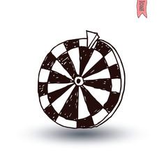 Wheel of fortune, hand drawn vector illustration.
