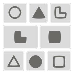 set of monochrome icons with socionic symbols