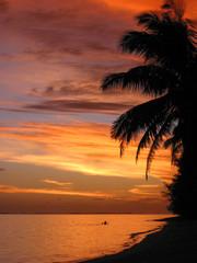 Sonnenuntergang auf den Cookinseln