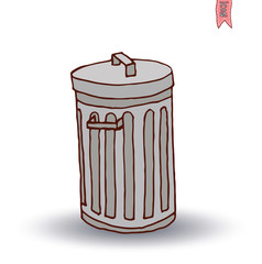 trash can icon, vector illustration