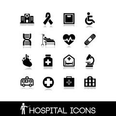Medical hospital - Icons set 4