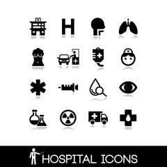 Medical hospital - Icons set 5