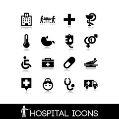 Medical hospital - Icons set 6