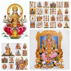 hindu gods collage ( Lakshmi,Ganesha and many others)