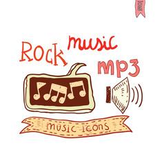music lettering, hand drawn illustration.