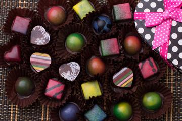 Chocolates y caja