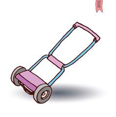 Lawn mower, vector illustration.