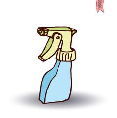 Cleaner spray bottle, vector illustration.
