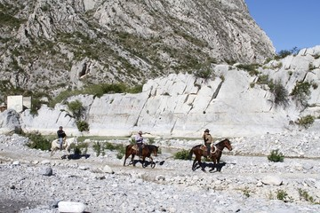 a Huasteca mountains - cowboys - Mexico