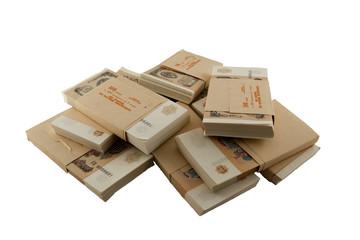 packs of the Soviet rubles