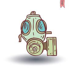 Gas mask icon, vector illustration.