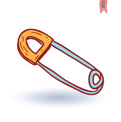 Safety pin icon , vector illustration