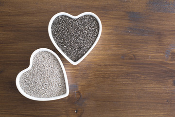 White and Black Chia Seeds