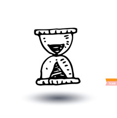 sand glass timer icon, Hand drawn vector illustration.