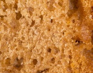 bread as a background. super macro