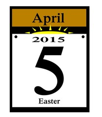 2015 easter calendar date icon