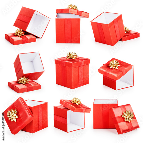 Red gift boxes - 75513528
