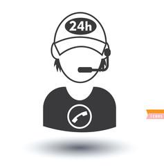 call center operator icons. vector