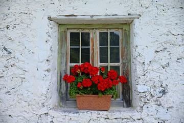 Fenster einer Alm