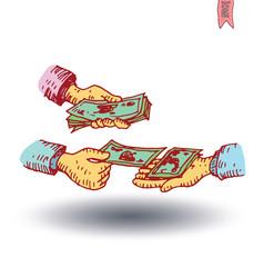 Bank icon, hand drawn illustration.