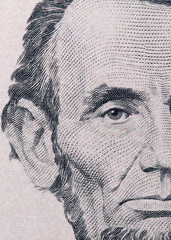 five dollars. close-up