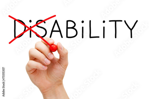 Ability Not Disability - 75515307