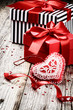 Valentine's setting with presents