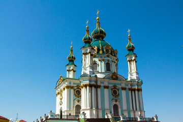 Saint Andrew orthodox church, Kiev, Ukraine