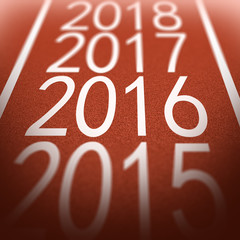 Tartan Surface with Year 2016 in Focus