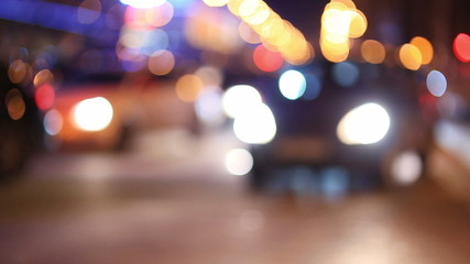 Night City Traffic on Highway