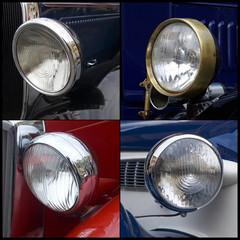 Oldtimer, headlights detail