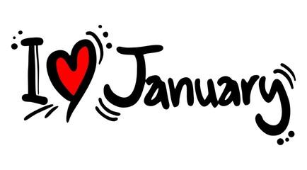 I love January
