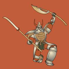 Shogun vector illustration