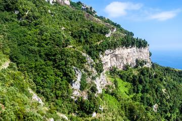 Rocky landscape at Amalfi coast