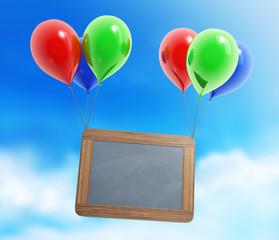 Ballon Tafel Himmel