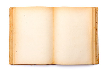 Old book with yellowed pages