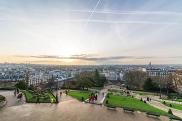 パリ モンマルトル ウィレット公園