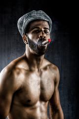 Bad boy smoking cigar