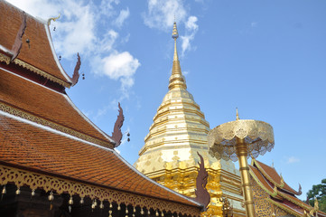 The pagoda in Chiang Mail, The north of Thailand