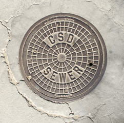 Southern California Manhole Cover