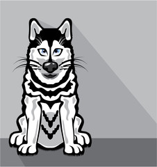 Alaskan Dog cartoon