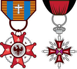 Fake vector Military Medals / orders