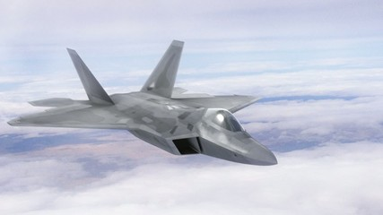 Stealth Fighter Jet - Glide and Turn