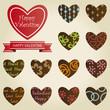 Set of valentines heart chocolates