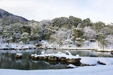 冬の天龍寺庭園