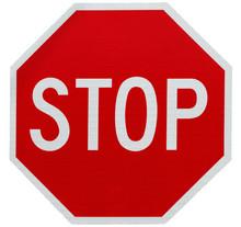 """Постер, картина, фотообои """"Stop sign isolated on white"""""""