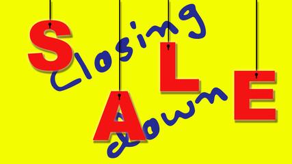 Cosing down sale.