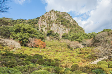 Mifuneyama Rakuen garden in Saga, northern Kyushu, Japan.