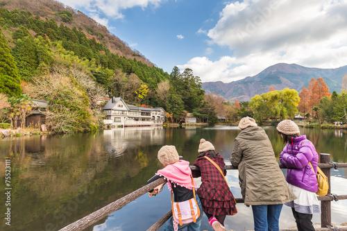 Papiers peints Japon Lake Kinrinko in Yufuin Town Oita, Japan.